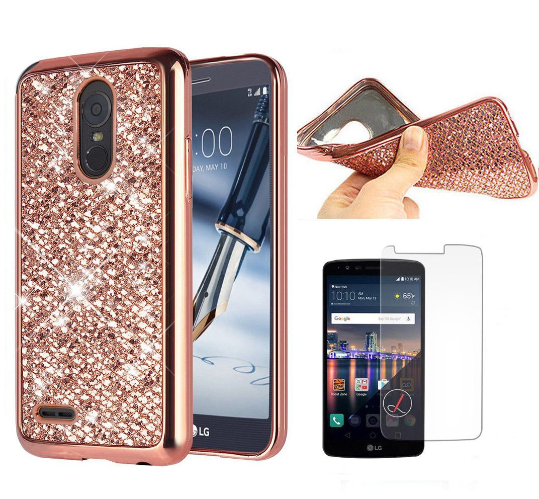 low priced f2367 955f1 For Lg Stylus 3 / Stylo 3 Plus Bling Shockproof Case Cover + ...