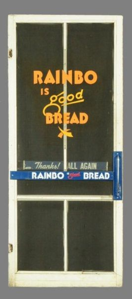 LOT #14   Rainbo Bread Advertising Screen Door · Old Screen DoorsDoor Ideas Antique ...