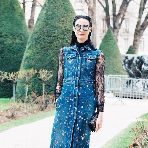 7 Stylish Ways To Wear A Denim Jumper Fashion Outfits Trends