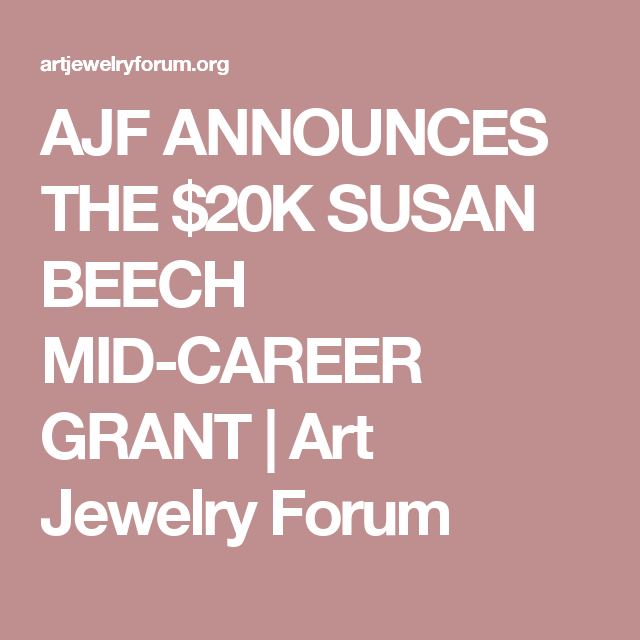 AJF Presents the 2017 Susan Beech Mid-Career Grant