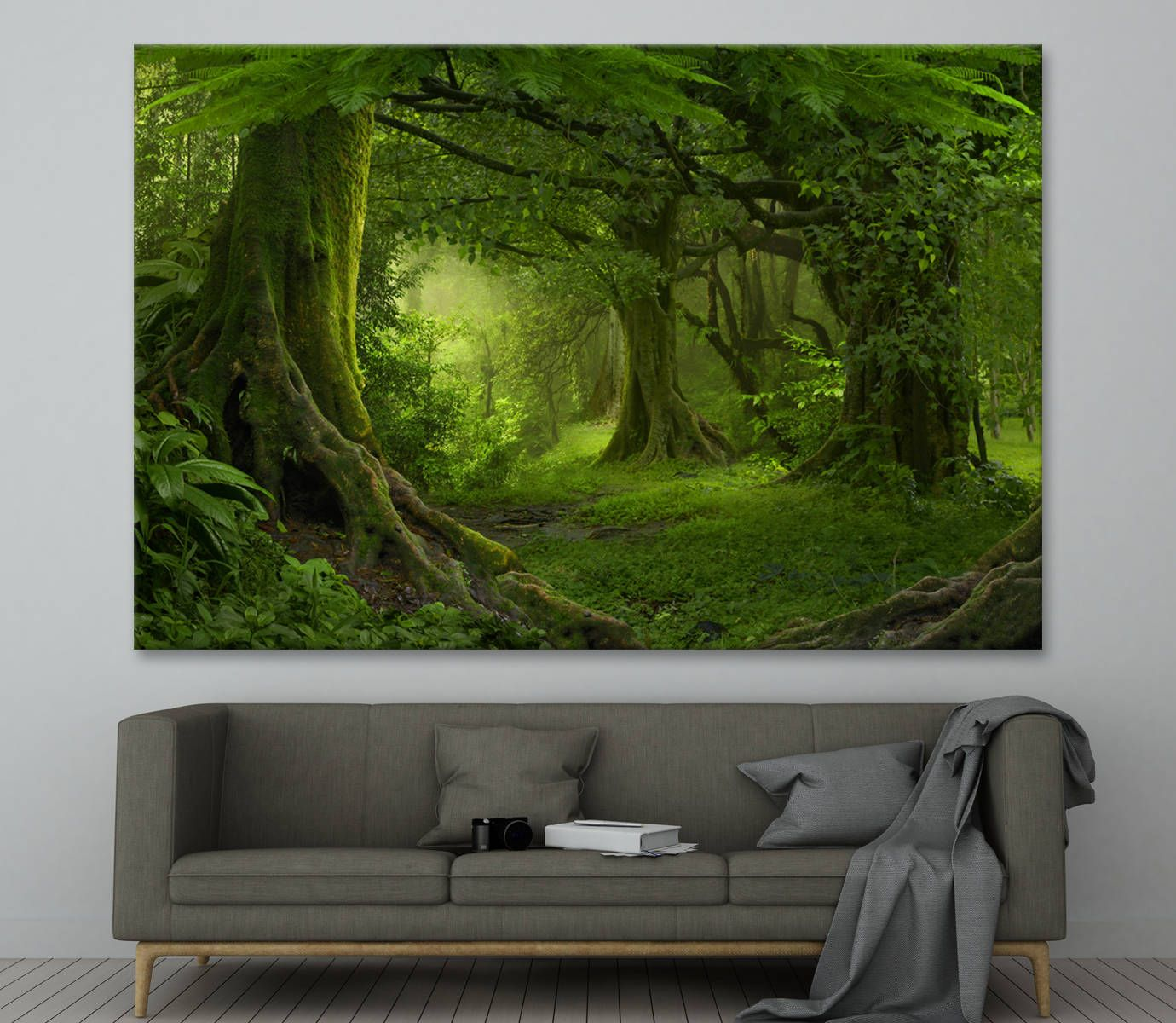Canvas art Green forest and trees Large Photoprint Multi Panel Canvas Print, Nature Wall Art Decoration Extra Large Print Ready to Hang by CanvasPrintStudio on Etsy