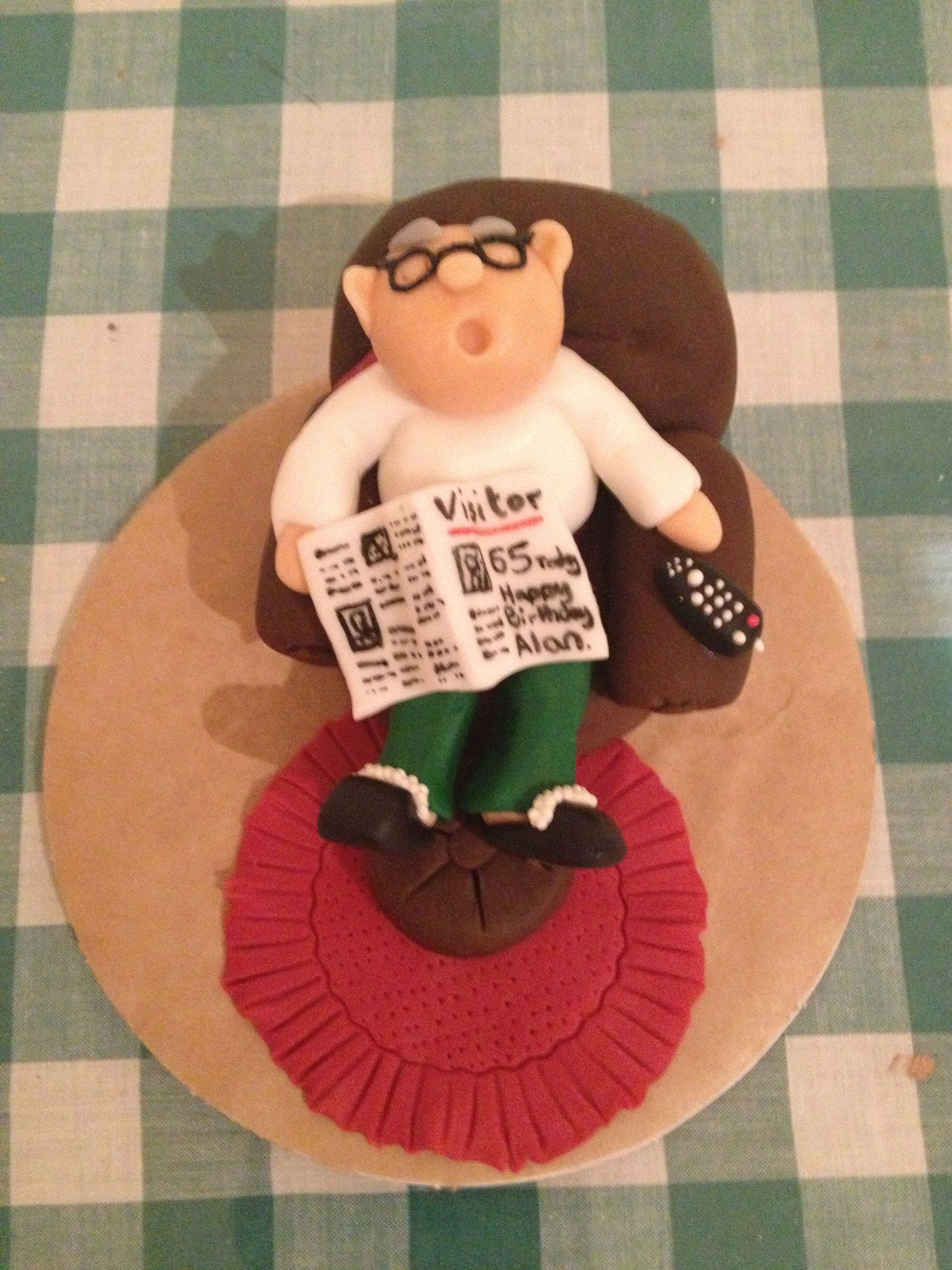Old Man Cake Topper Mas