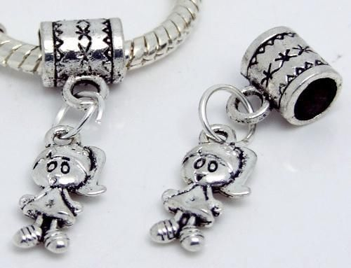 Awesome Tibetan Silver Little Girl Charm With Bail #620 $4.95