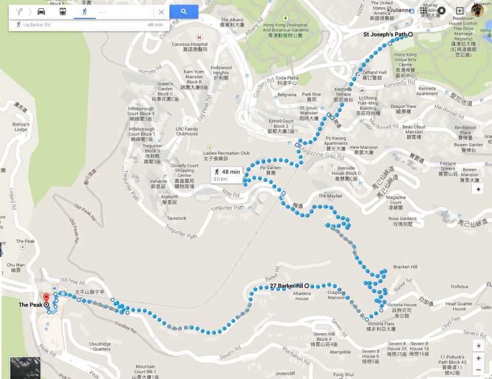 New Route Easy Hike To The Peak From Central Admiralty Via The Central Green Trail Route Green Peak