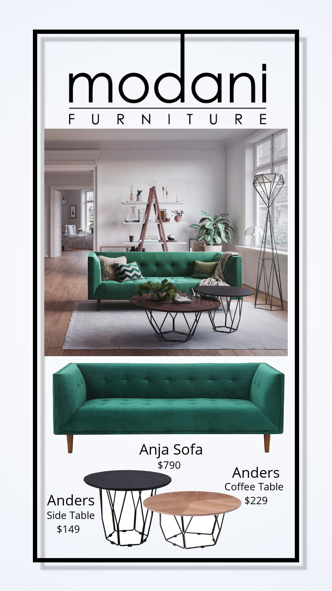 Take a walk on the wild side! The Anja Sofa with all the