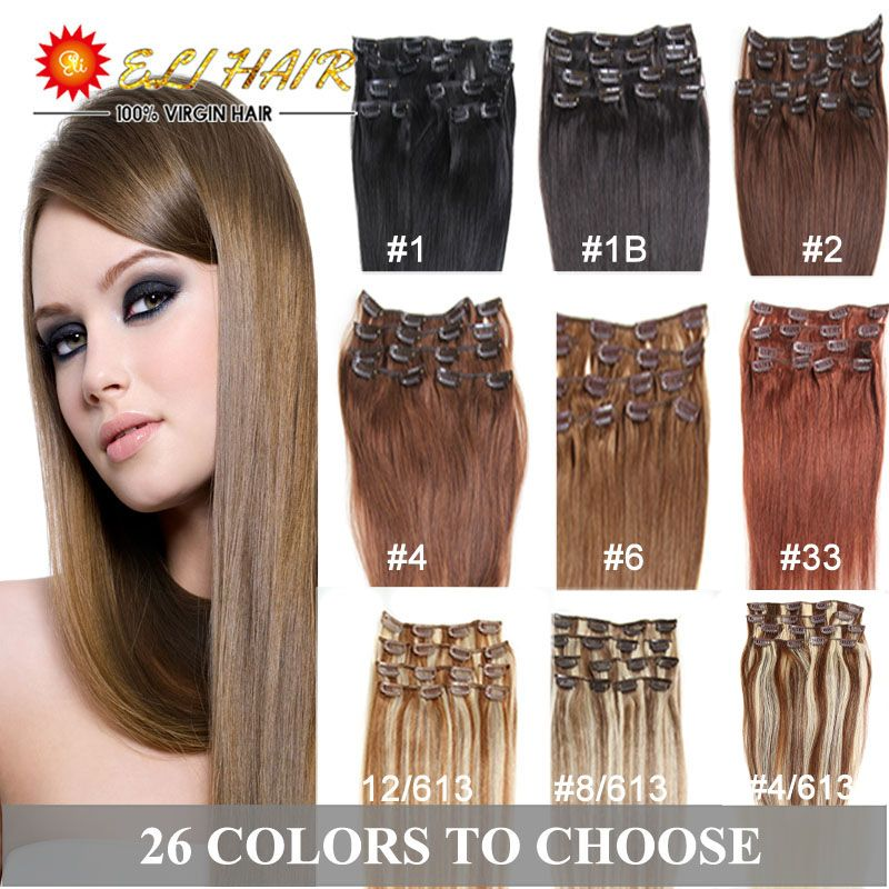 Clip In Human Hair Extensions Blonde Human Hair Clip In Extensions