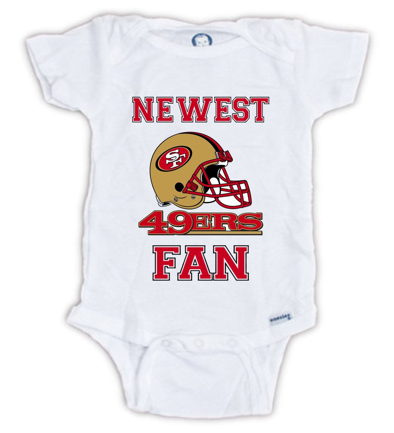 877075851c8 San Francisco 49ERS FAN Baby Onesie, Baby Bodysuit, Football Onesie, Great  Baby Shower Gift, Mother's Day, Father's Day, Sportsfan by JujuApparel on  Etsy