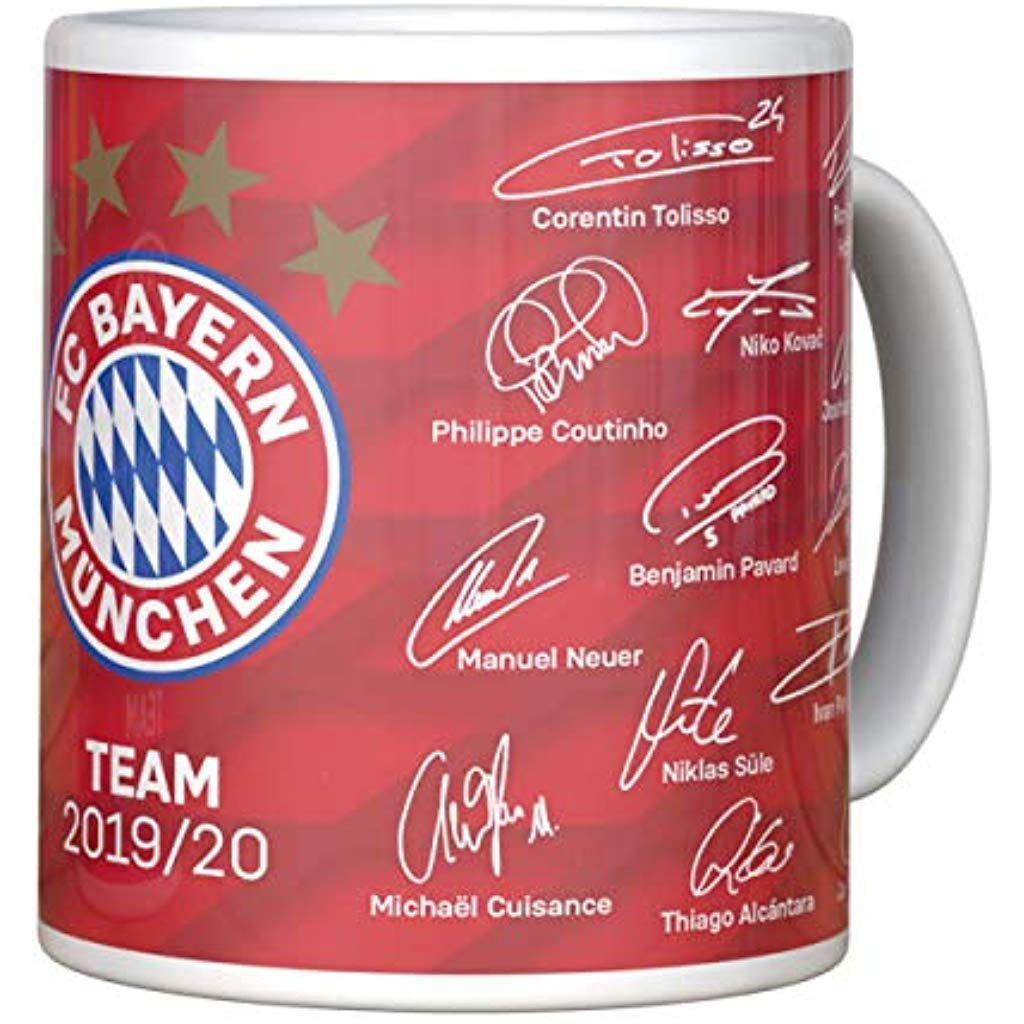 FC Bayern M/ünchen Tasse Unterschriften 2019//20