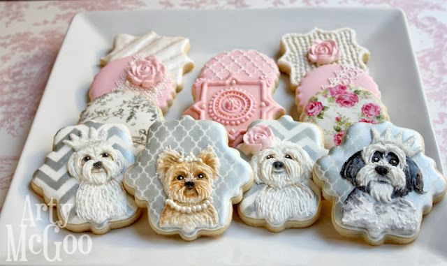 Arty McGoo: Small dog decorated cookies and a promise http://artymcgoo.blogspot.com/