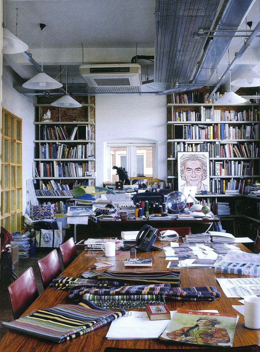 Basement Study Room: Paul Smith's Office From The Book Home By Stafford Cliff