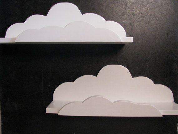 2 Cloud Shelf Deluxe - Children's Decor, Aviation Theme, Airplane, Unique. $55.00, via Etsy.