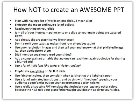 8 rules for better powerpoint presentations