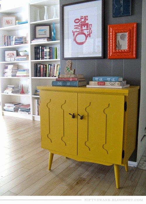 20 ideas para pintar muebles de madera antiguos a todo - Muebles antiguos pintados ...