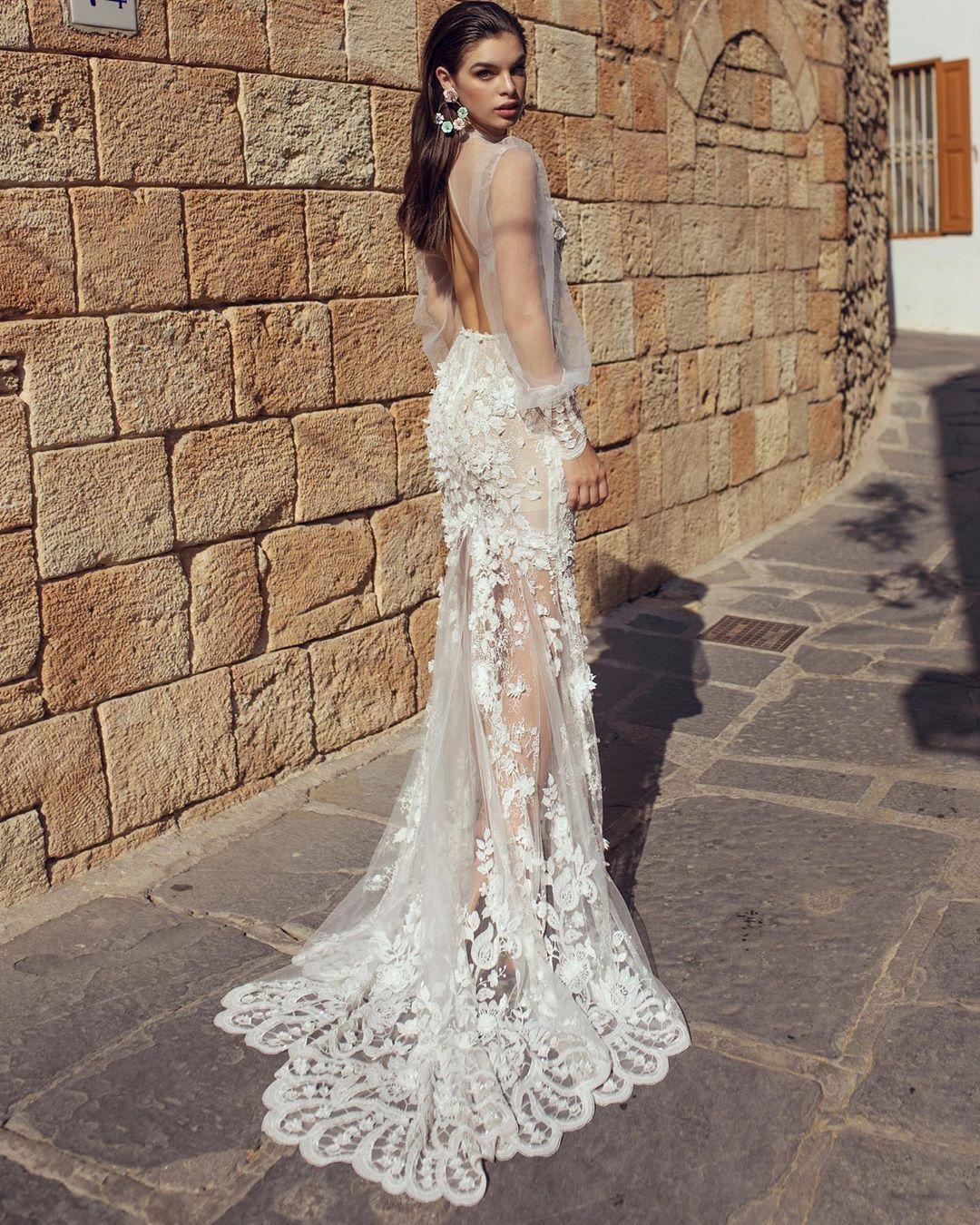Lace Transparent Wedding Dress