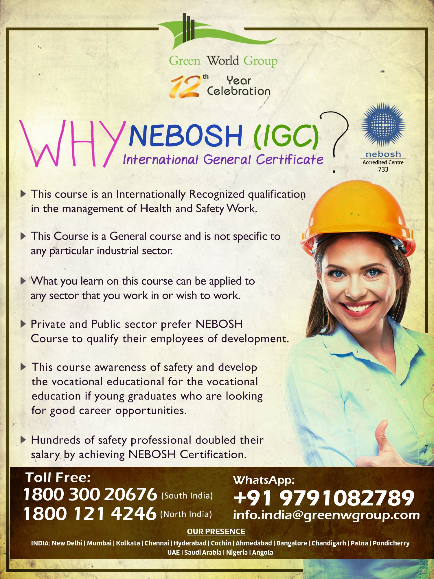 NEBOSH Course in Chennai Safety courses, Health and