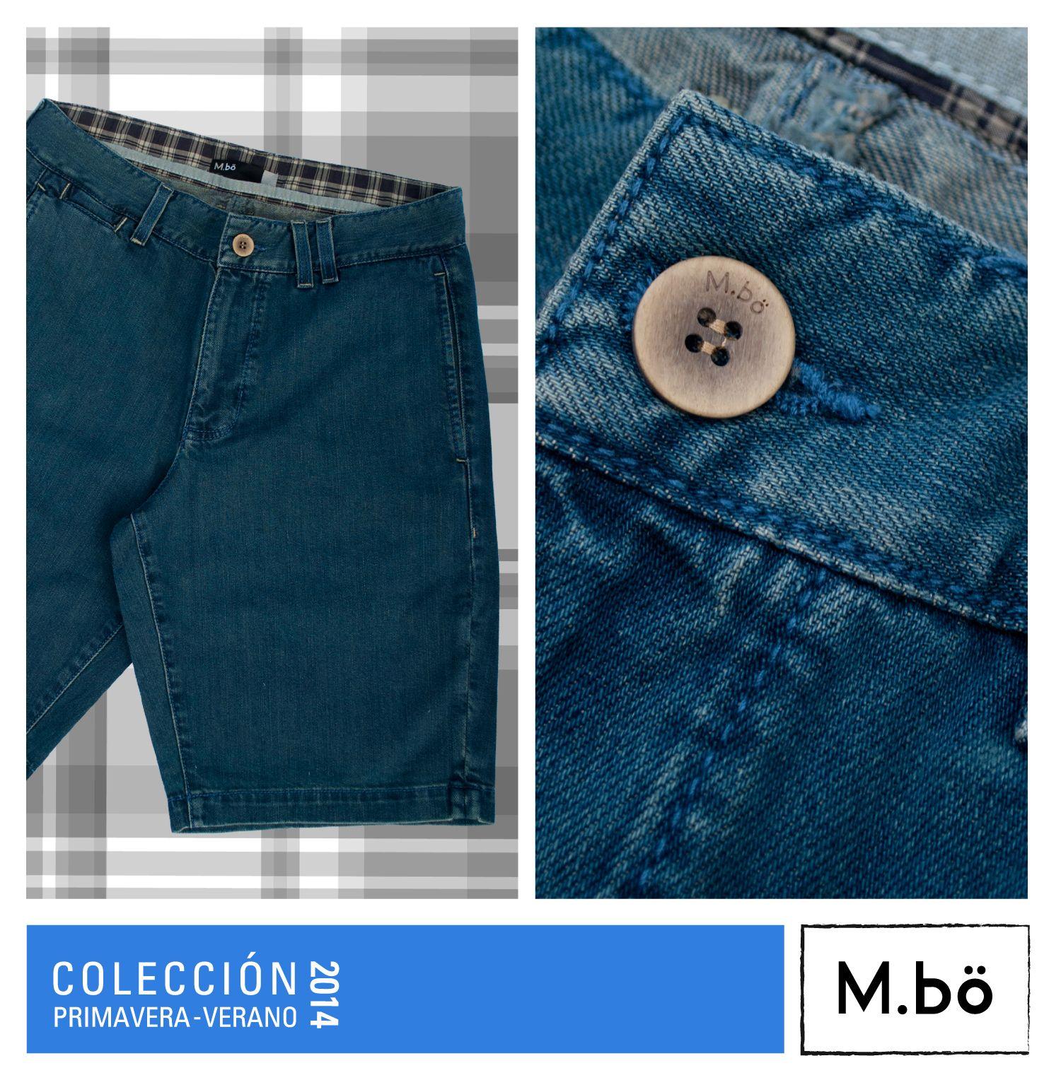 Los jeans se transforman en bermudas…. Bermuda denim con bolsillo costado color azul cod. OMBR0013* #mbö #summer2014 #Perú #bermuda *No disponible en la tienda de Arequipa.