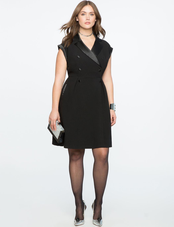 Double Breasted Tuxedo Dress | Women\'s Plus Size Dresses in ...