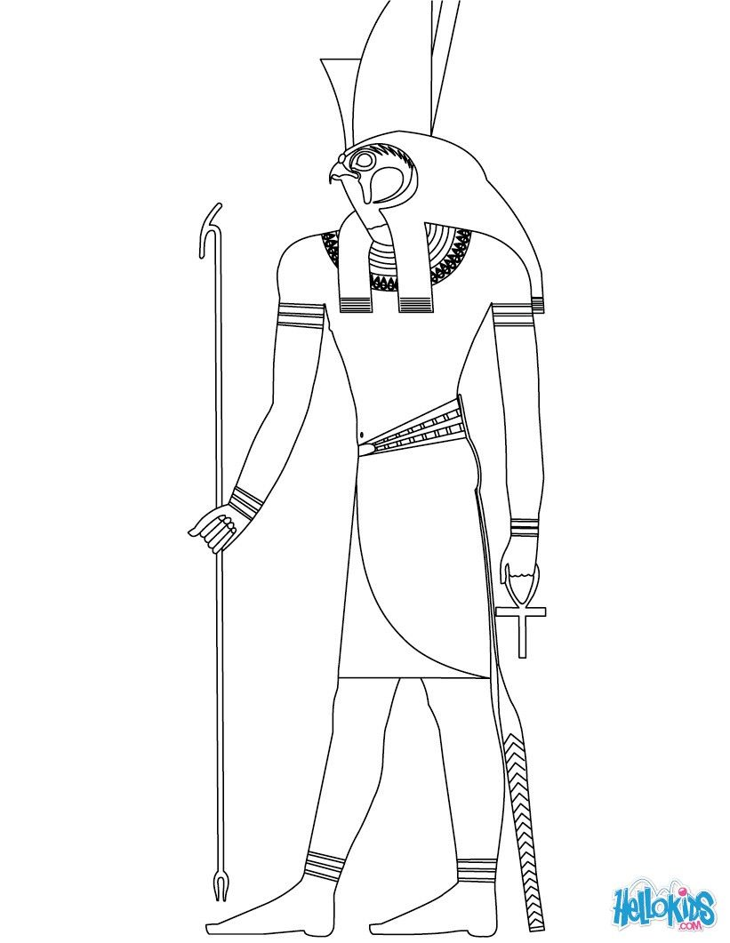 coloring pages of egyptian gods and goddesses - Google zoeken ...