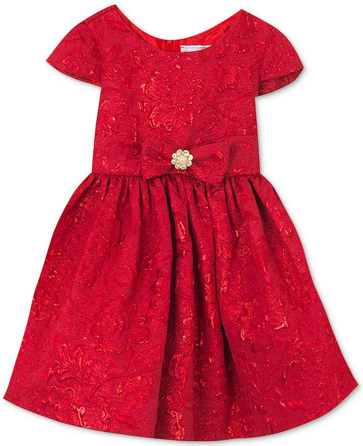 69c7159abf96 Baby Girls Brocade Fit & Flare Dress in 2019 | Products | Red ...