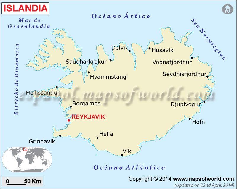 Islandia Mapa Mapa Islandia Islandia Mapas Y Mapa Paises