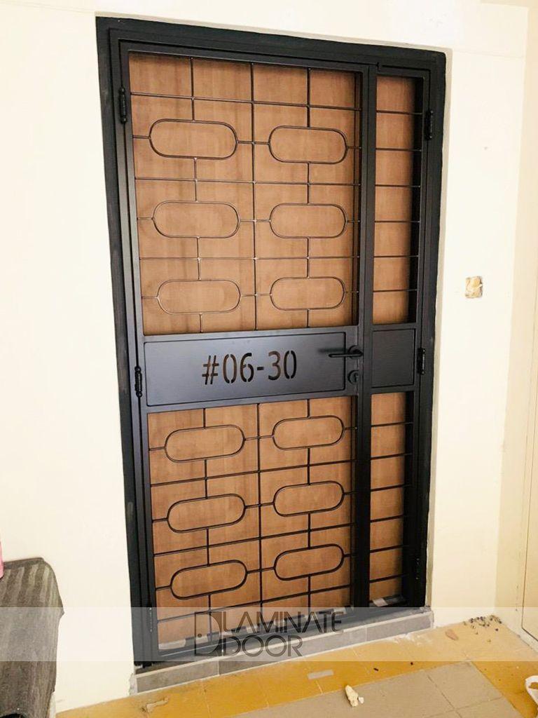 Retro Mild Steel Gate Laminate Doors Grill Door Design Doors