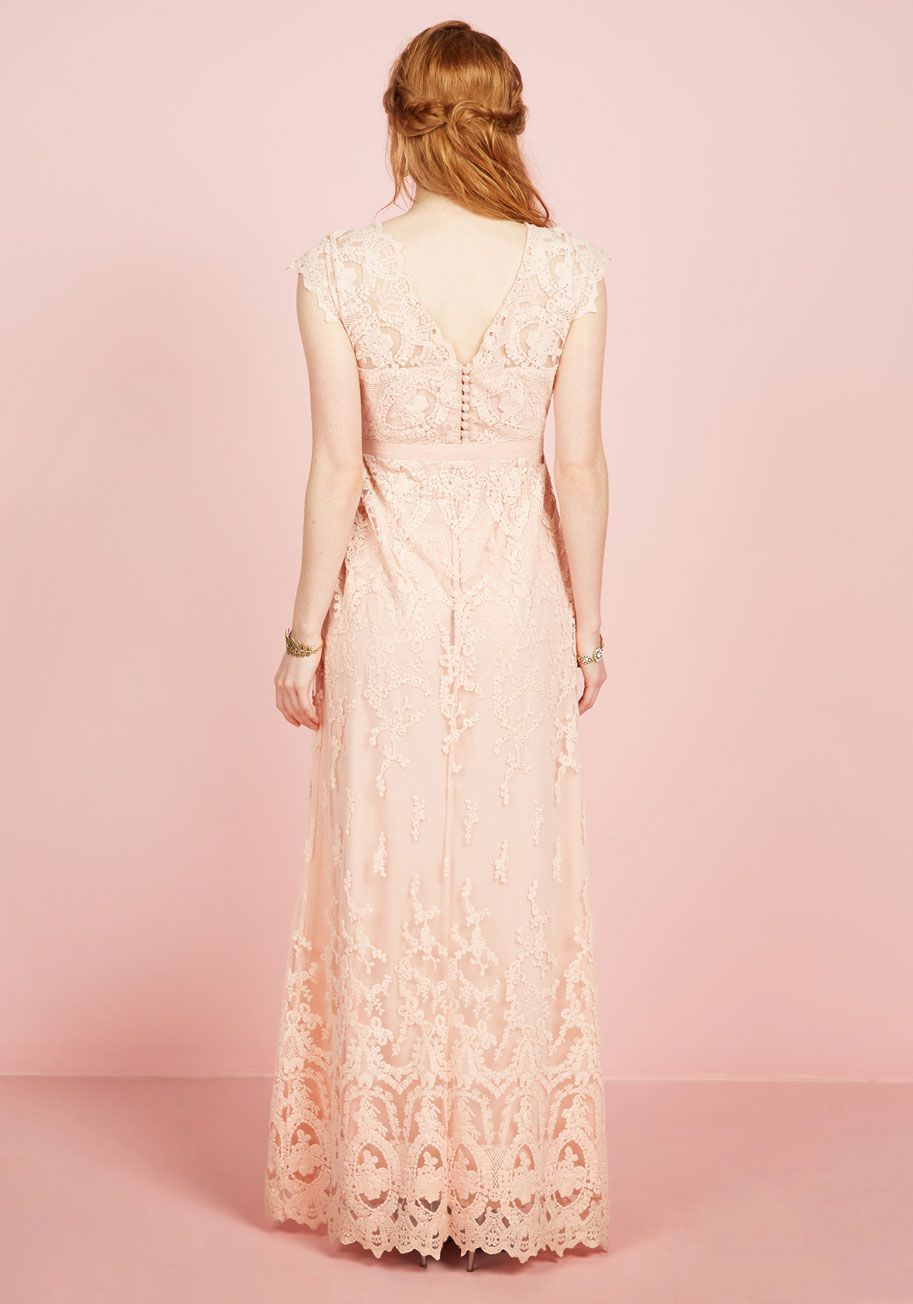 Memorable matrimony maxi dress in petal pink gowns modcloth and