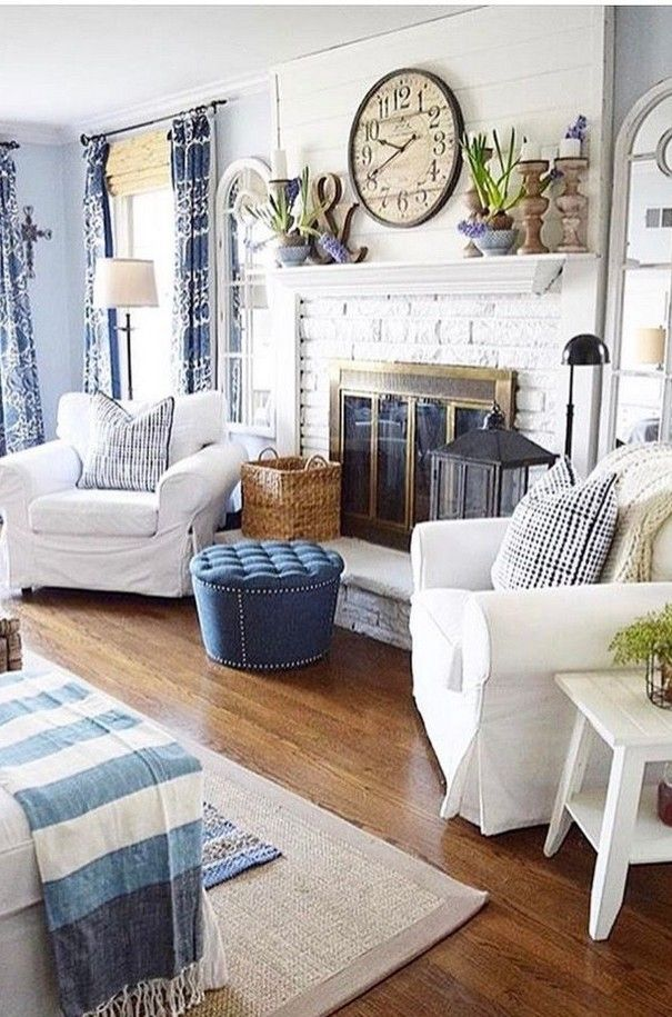 On The Rocks Cottage Style Living Room Seaside Cottage Interior