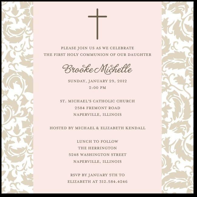 Simple FloralChenille invitations Pinterest Communion - invitation templates holy communion