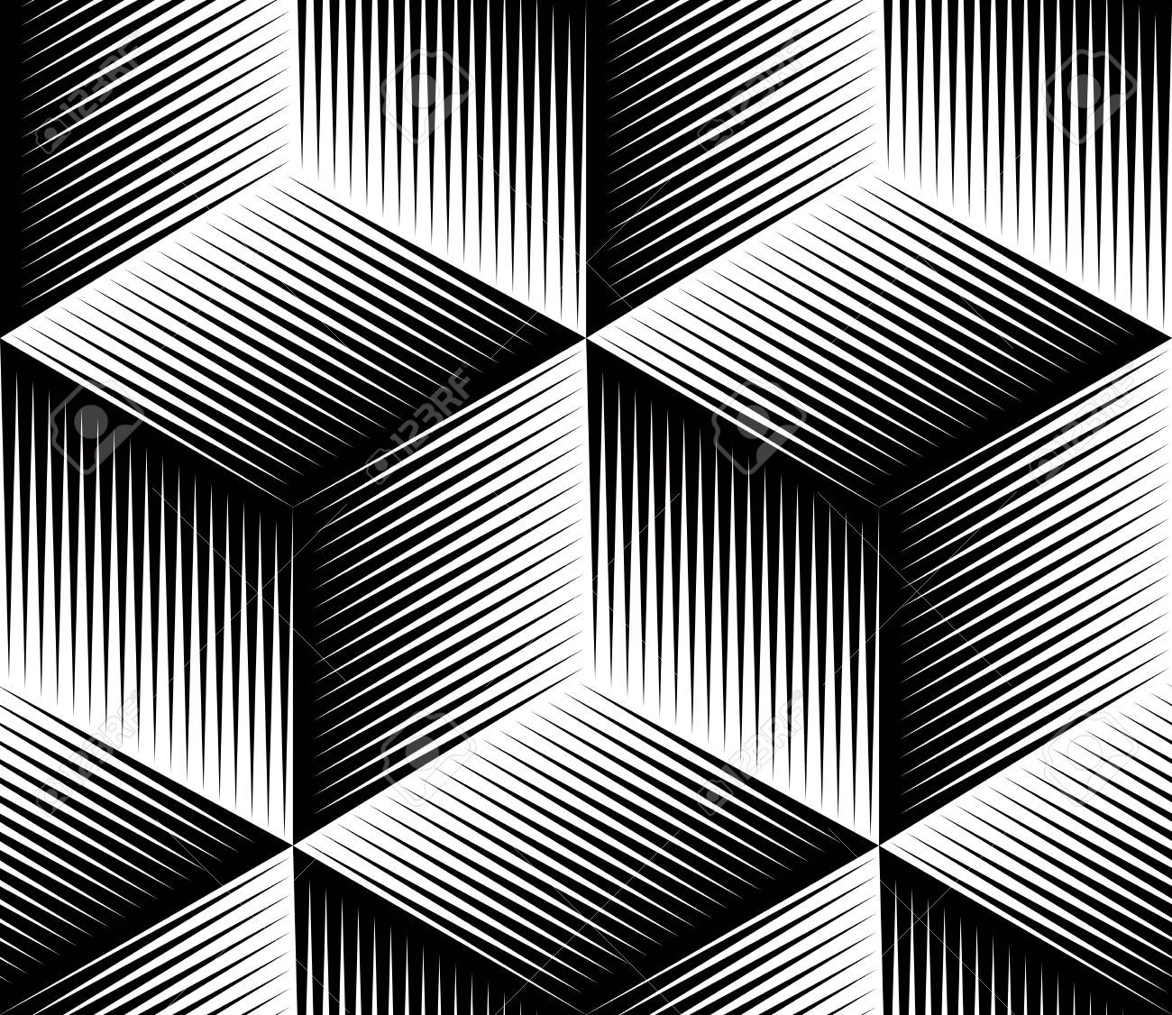 Stock Vector Black And White Patterns Geometric