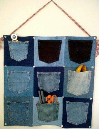 Cute way 2 use pockets of old jeans