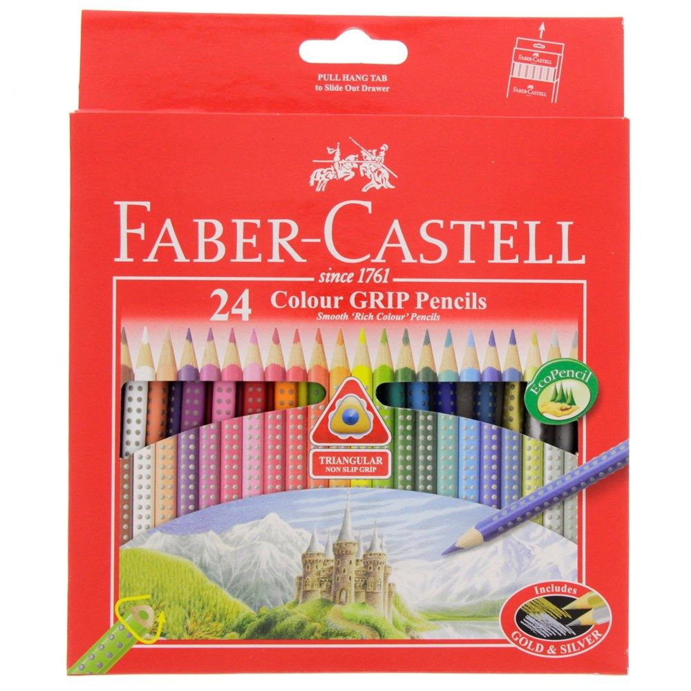 Buy Faber Castell Color Grip Pencils 24 Piecess For Best Price
