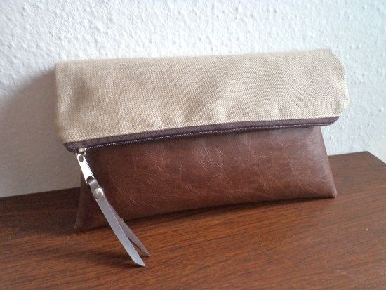 Foldover+clutch+bag+/+zipper+pouch+/+clutch+purse+by+reabags,+$37.00