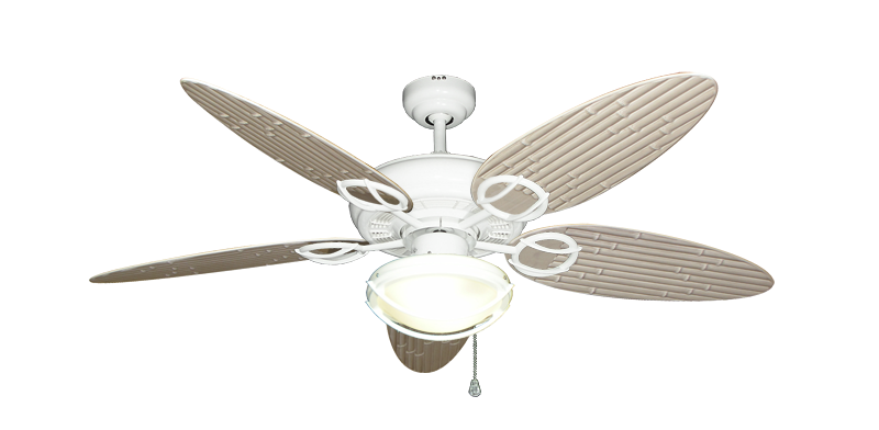 Trinidad Pure White Ceiling Fan With 52 Bamboo Distressed White Blades W 163 Pure White Indoor Outdoor L Ceiling Fan With Light Ceiling Fan White Ceiling Fan