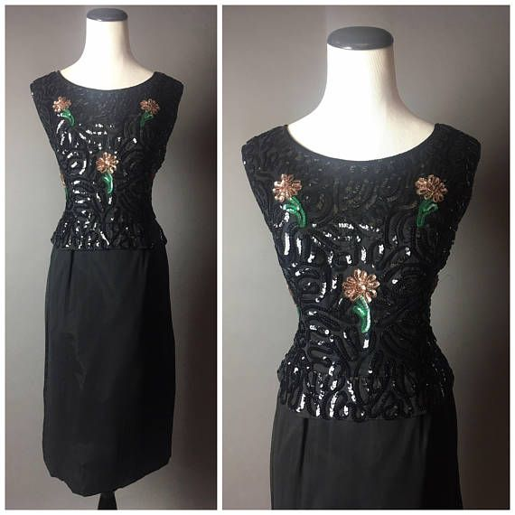 Vintage 50s Dress 1950s Dress Floral Dress Volup Dress Plus