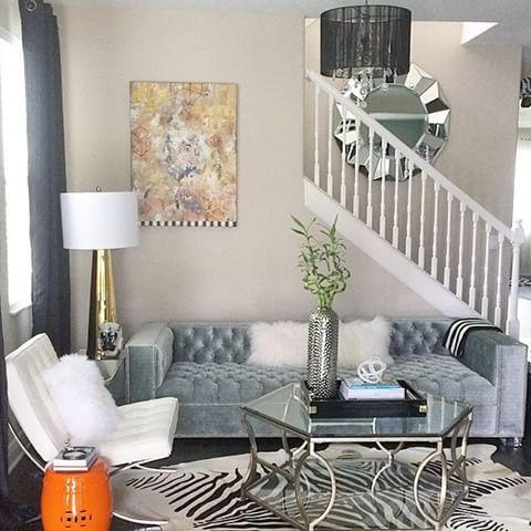 ZGallerieMoment @sasufdesigns\u0027 living room remodel is tasteful