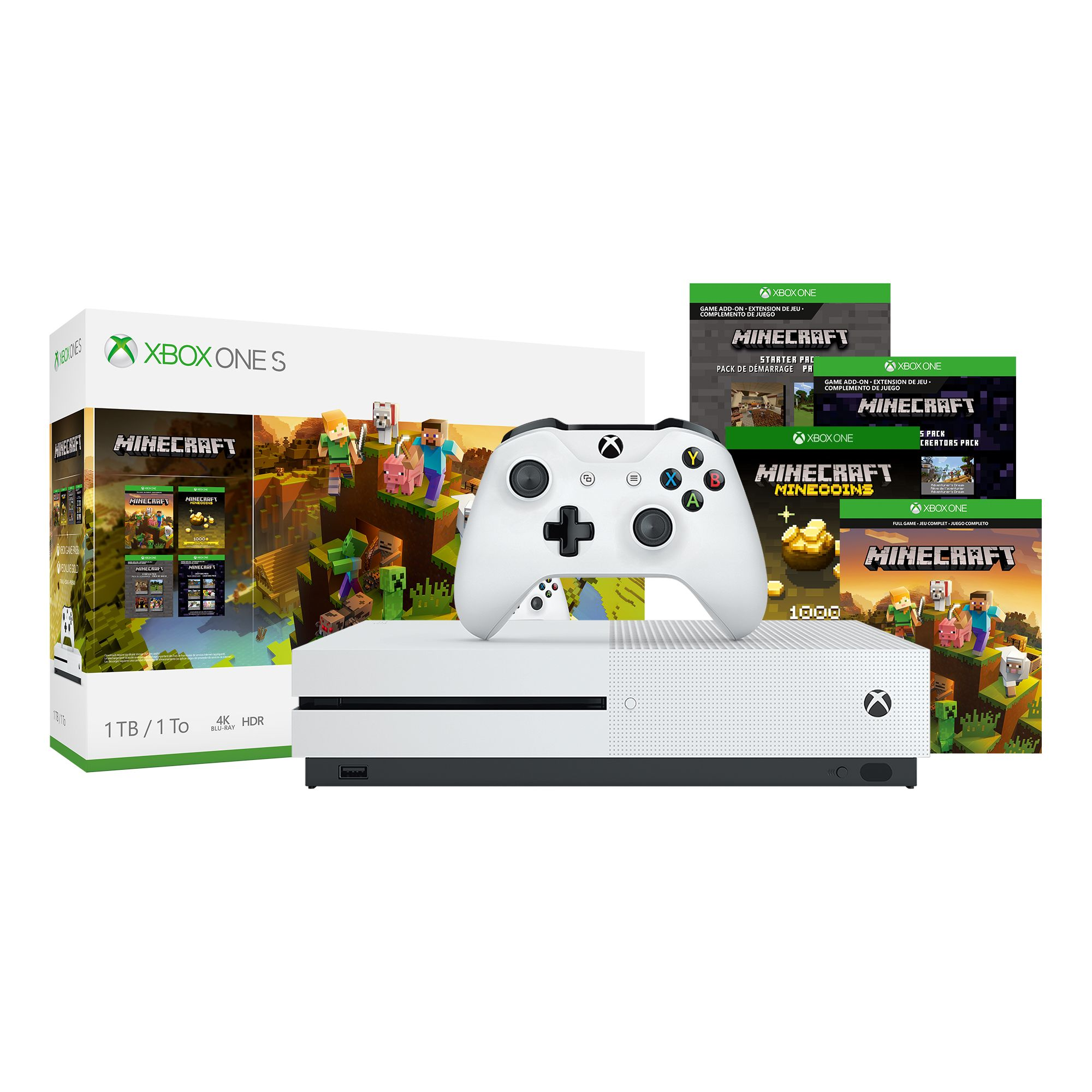 Microsoft Xbox One S Minecraft Creators Bundle ONLY $10 Shipped