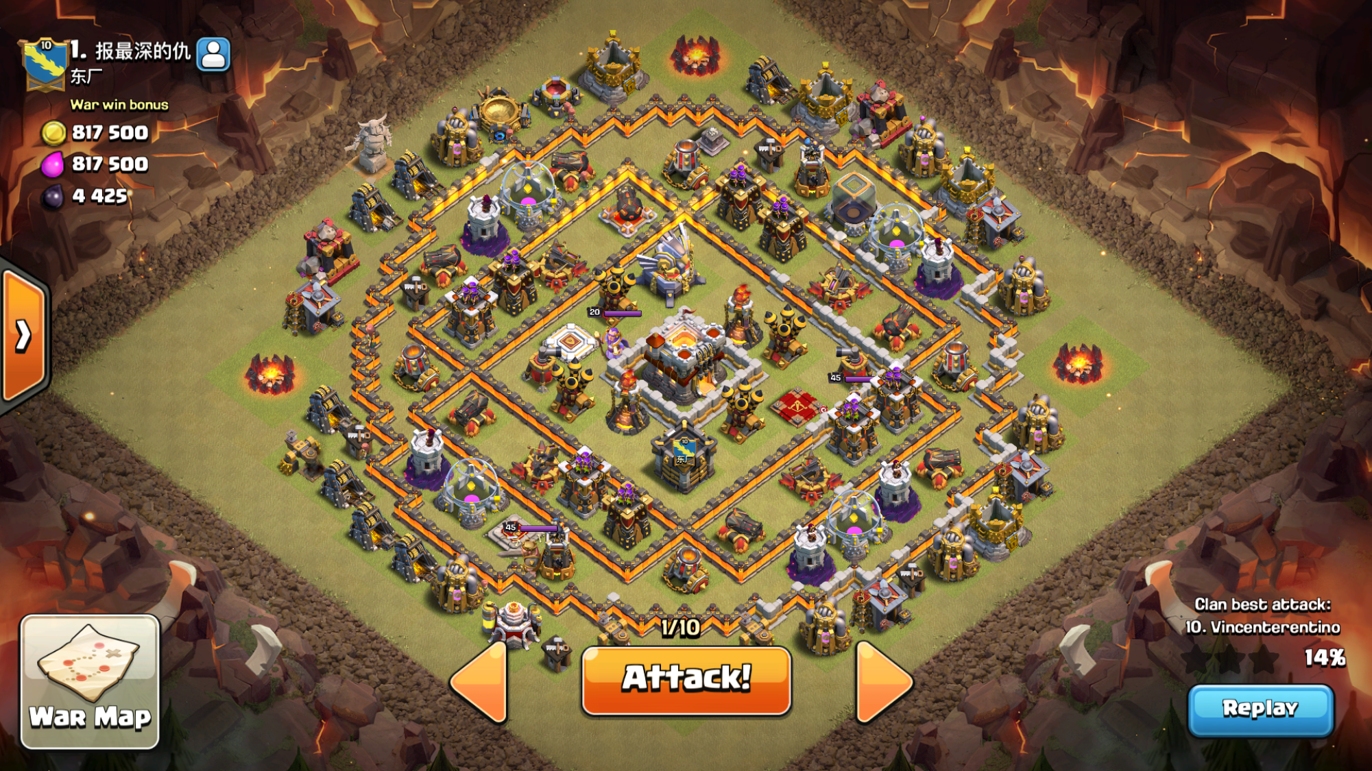 Base War Th 11 Legend 8