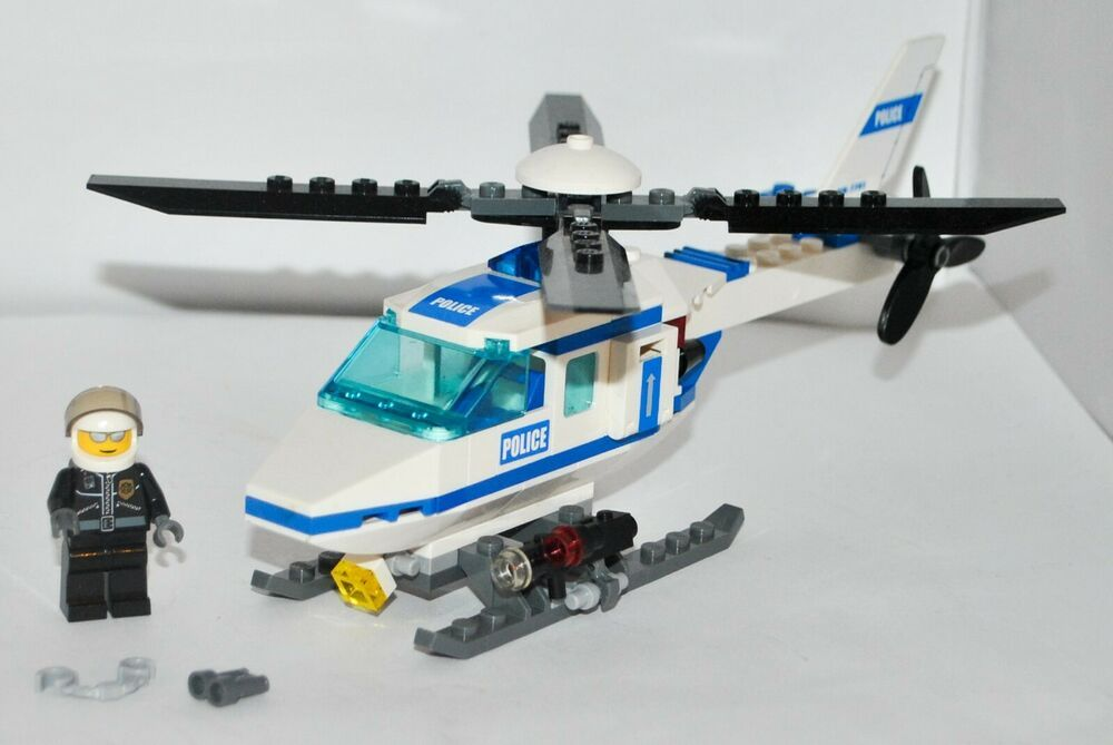 Lego City Police Helicopter 7741 100 Complete Set No Box Or Instructions In 2020 Lego City Police Helicopter Lego City Police Lego City