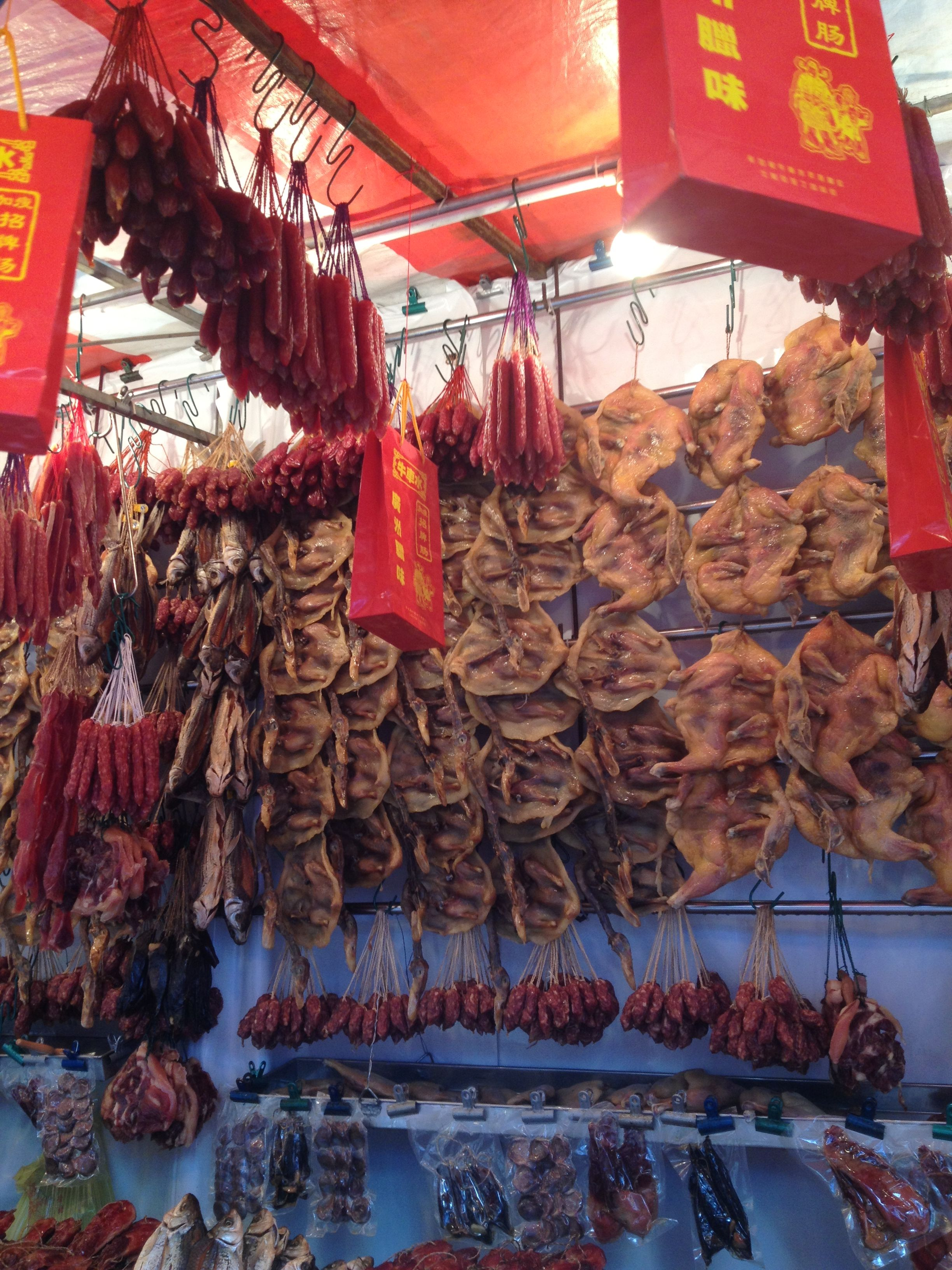Chinese new year delicacies cantonese wax duck and