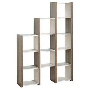 Target Bookcase Urban Room Divider White Sonoma Oak