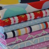 FQ Bundle Cottons: Paint Box / Retro, 8 Fabrics