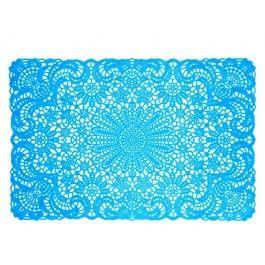 blue vinyl placemat