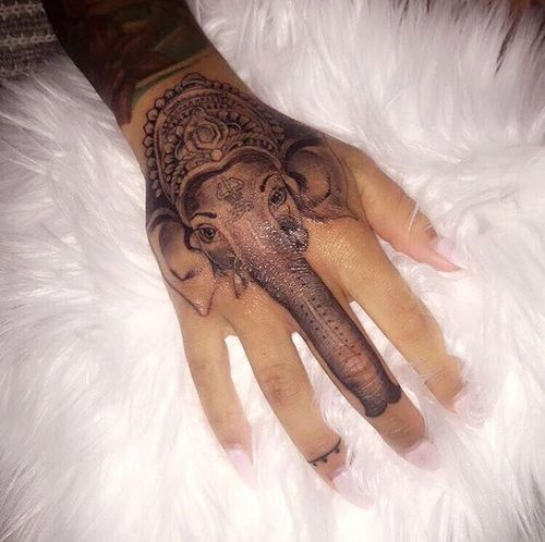 Creative Inked And Elephant Image On We Heart It Tattoos Hand Tattoos Cute Tattoos