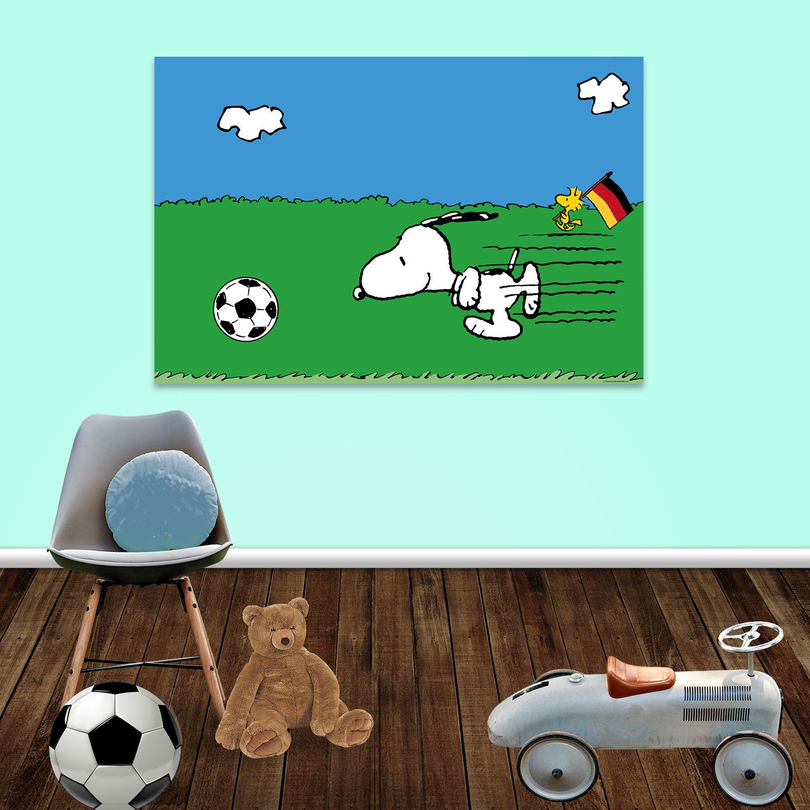 Snoopy Fussball Wandbilder Kinderzimmer Happiness Home