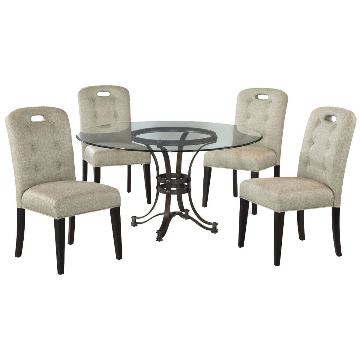Bassett mirror company carnaby round cocktail leaf new home s - Bassett Mirror Belgian Luxe Tempe Casual Dining Set