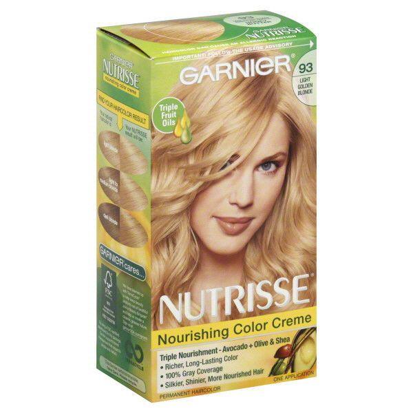 Nutrisse Hair Color 93 Honey Butter Light Golden Blonde Garnier