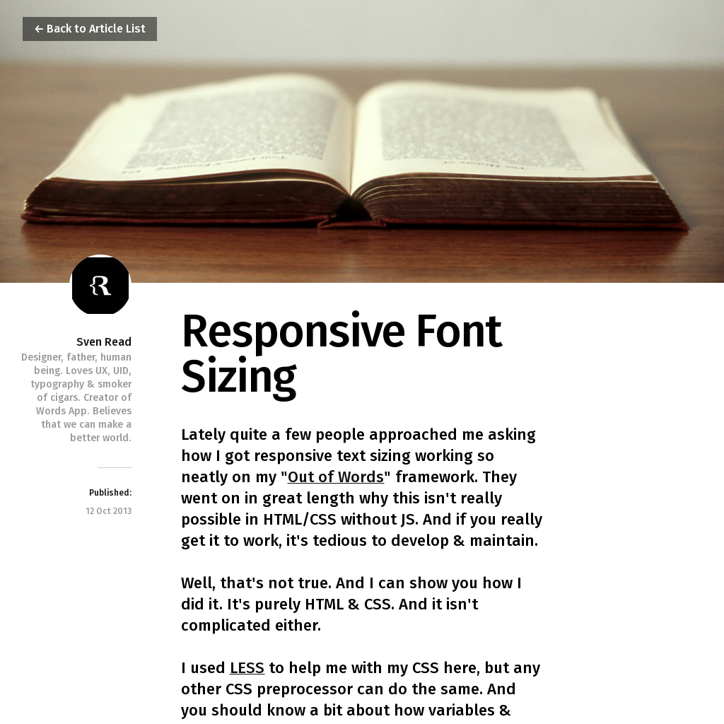 Responsive Font Sizing Word app, Worlds of fun, Typography