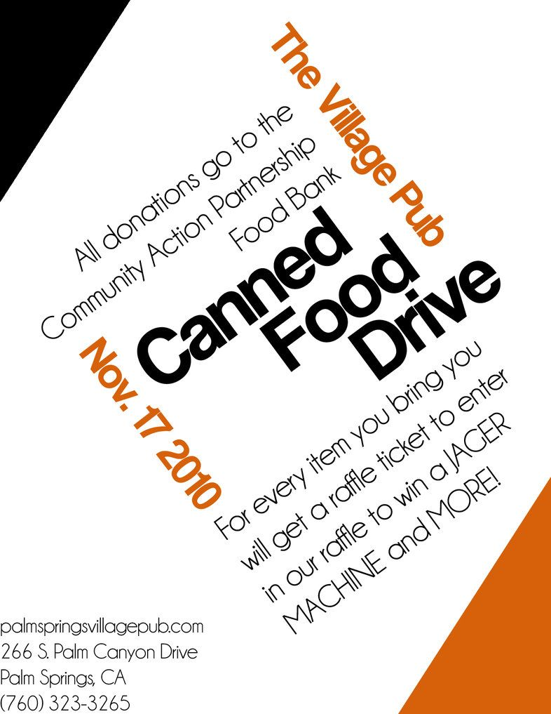 Canned Food Drive Web Flyer By Aeroscythe On Deviantart