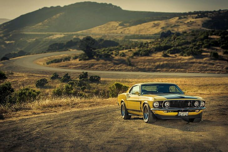 HD wallpaper: Ford, Mustang, Boss, 302, yellow, 1969, Muscle Car   Wallpaper Fla…