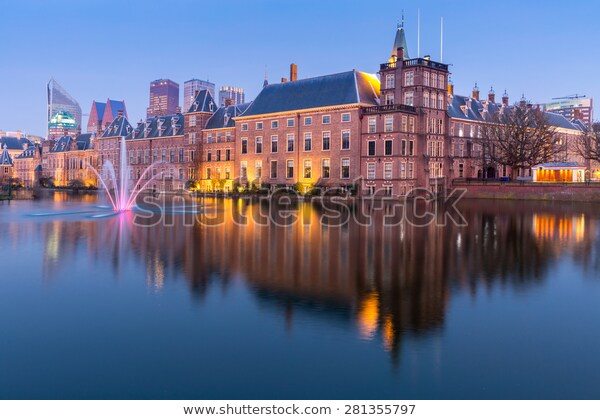 Binnenhof Palace Place Of Parliament In The Hague Of Netherlands At Dusk The Hague Netherlands Netherlands City Trip